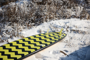 surf board snow winter vladivostok russia extreme sports black yellow