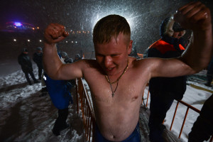 just after epiphany bathing in winter 2016 in Vladivostok