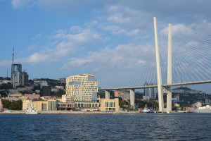 vladivostok downtown from the sea
