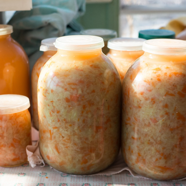 Russian tradition of cabbage pickling